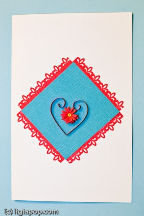 Card 21: Blue square and heart