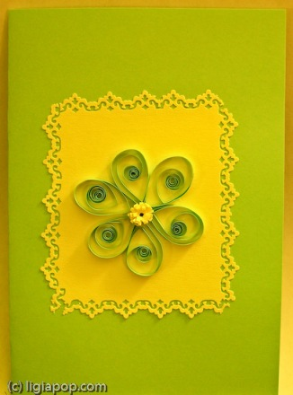 Card 41: Green flower in yellow rectangle