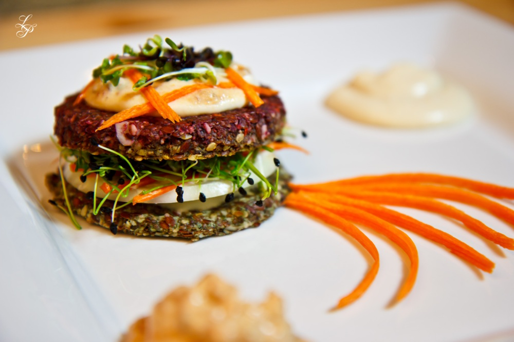 Raw Burgers with Beets