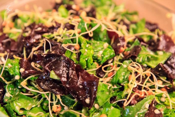 Salata de spanac cu alge dulse
