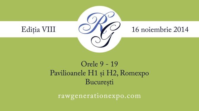 Duminica aceasta ne vedem la Raw Generation Expo