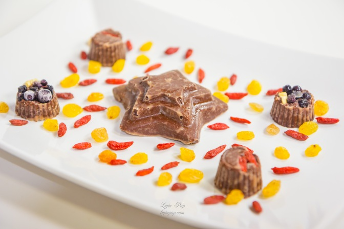 Ciocolata raw vegana cu goji si afine