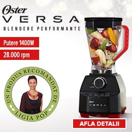 Vă recomand blenderul Oster Versa