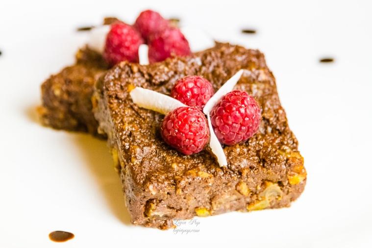 Brownies cu zmeura